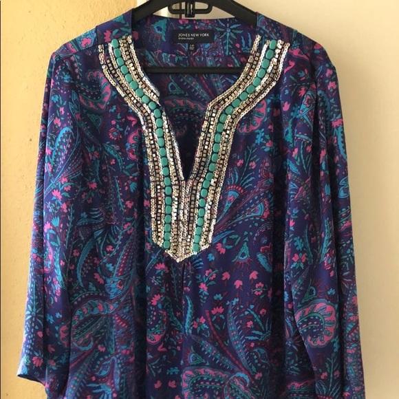 Jones New York Tops - Jones New York beautiful silk blouse
